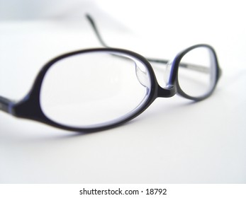 Pair of business glasses on isolated white background