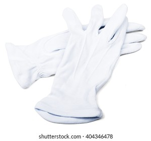 Pair of butlers white gloves