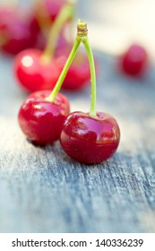 Pair of cherries outdoor