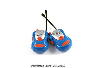 A pair of Children's walkie talkies isolated on a white background