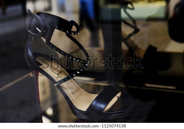 6f5b11a7936 Pair Christian Louboutin Heels Shoe Store Stock Photo (Edit Now ...