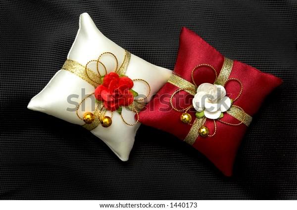 pair of decorative pillows
