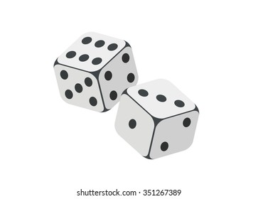 a pair of dice simple illustration