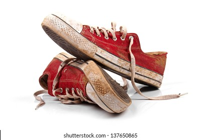 Old Tennis Shoes Images, Stock Photos