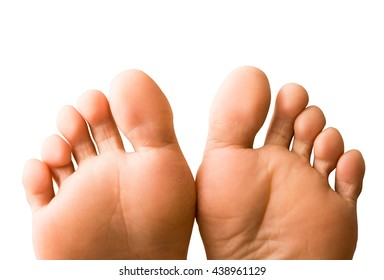 a pair of female feet isolated