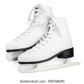 Pair of figure skates isolated on white with clipping path