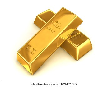 A pair of fine gold bars with a net weight of 1000g each.