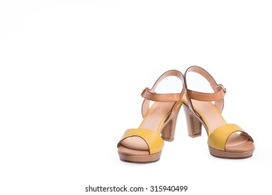 Pair of high-heeled female shoes