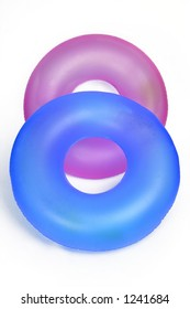 Pair of Inflatable Round Pool Tubes