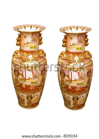 Pair Japanese Vases Stock Photo Edit Now 809034 Shutterstock