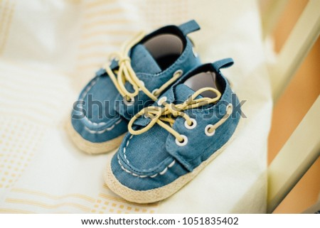 Pair Jeans Shoes Lightblue Colour Beige Stock Photo Edit Now