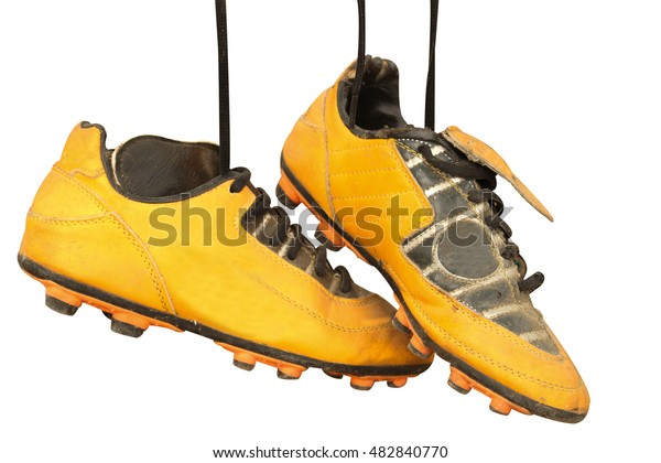fd14ea5de Pair Old Football Boots On White Stock Photo (Edit Now) 482840770