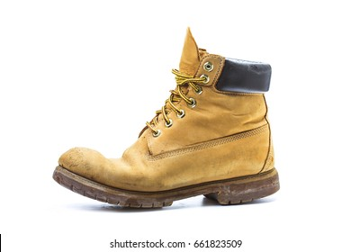 Pair of old yellow working boots?Nostalgic