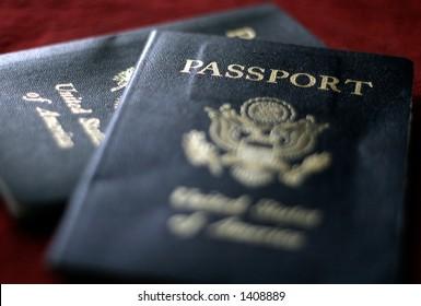 Pair of passports.
