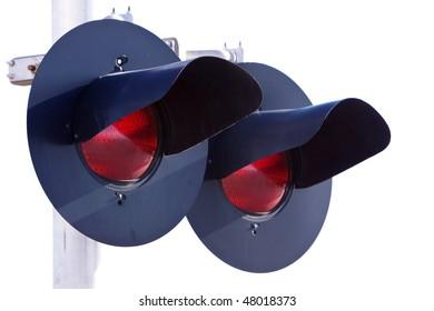 Pair of railroad signal lights