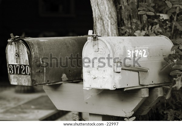 Pair of rural mailboxes