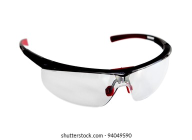 Pair of safety glasses isolated on white
