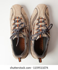 Pair of shoes in reverse. Concept of OCD, Obsessive compulsive personality disorder.