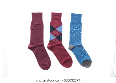 Pair of sock for clothing isolated on white background