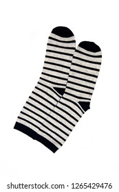 Pair of socks, isolate on a white background/ Flat lay/ Top view
