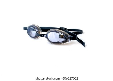 Pair of Swimming Goggles Isolated on White Background.