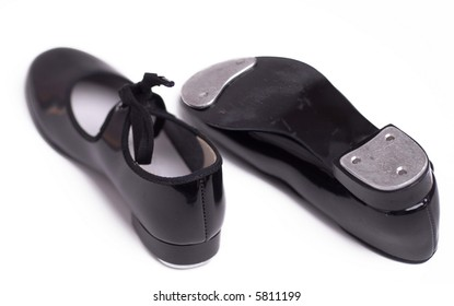 A pair of tap dancing shoes