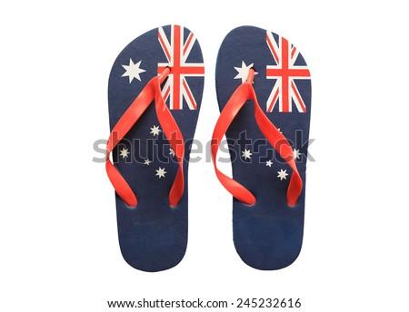9a6af5b8350 Pair Thongs Australian Flag On Them Stock Photo (Edit Now) 245232616 ...