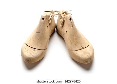 Pair of vintage wooden shoe lasts