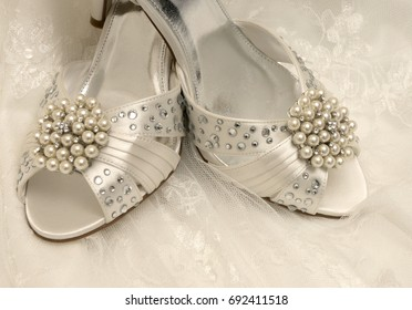 a pair of Wedding shoes