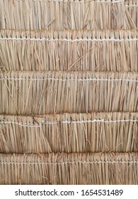 Pairs of dry vetiver grass made for roof in Thailand