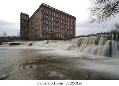 PAISLEY, RENFREWSHIRE, SCOTLAND â?? DECEMBER 2015: Anchors Mills, a remainder of the Victorian Industrial Heritage. It is also known as Paisley Watermill or Paisley Cotton mill on December 25, 2015.