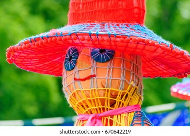 PAISLEY, SCOTLAND - JULY 1, 2017: Participant dressed in a giant puppet costume celebrating Sma Shot Day in the parade travelling through the streets of Paisley from Brodie Park to Abbey Close