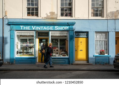 PAISLEY, SCOTLAND - SEPT. 2018: Small cottages in Paisley, Scotland