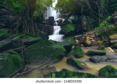 Paisritong waterfall in Phitsanulok thailand