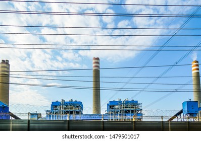 Paiton Power Station is a large thermal power station in situated between Probolinggo town and Situbondo town, East Indonesia, Indonesia, July 2019