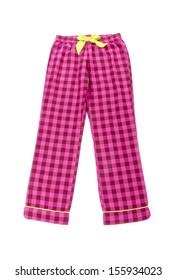 Pajamas Pants Isolated on White
