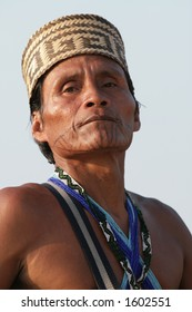 A Pajaro Jai tribesman from the rainforest in Panama.