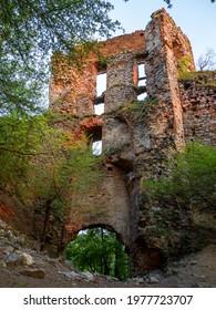 Pajstun castle ruins in afternoon sunlight