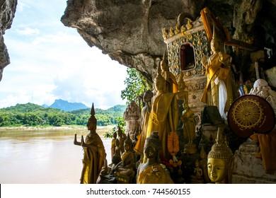 Pak Ou caves or Tam-Ting, Luang Prabang, Laos