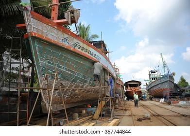 PAK PHANANG SEP 10 2009, fishing vliiage of Pak Phanang, Pak Phanang is a district of Nakhon Si Thammarat Province, southern Thailand