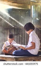 Pak thong chai, Nakhonratchasima Province, THAILAND - November 2: Learning and Teaching brethren students In rural areas nakhonratchasima, November 2 2015.