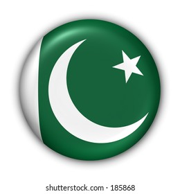 Pakistan Flag Button