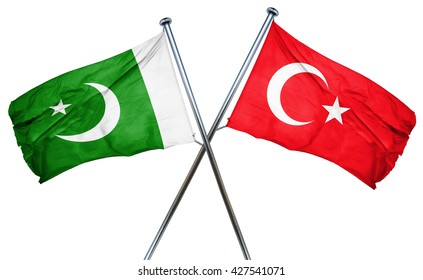 Pakistan flag  combined with turkey flag
