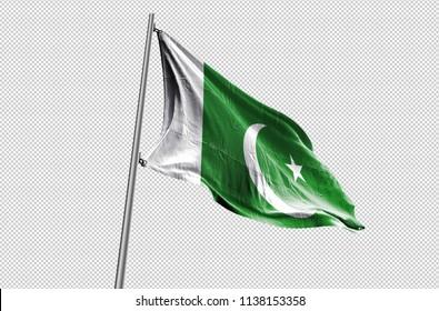 Pakistan Flag waving stock Image