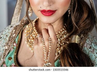 Pakistan Indian bridal makeup and hair jewelry Karachi, Pakistan, 19 August, 2019