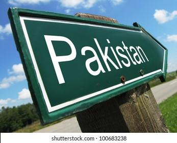 PAKISTAN road sign