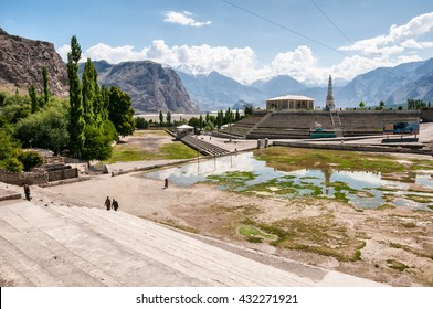 Pakistan, Skardu, June 2015 - Square in Skardu, mountain town, from which every expedition to K2, Broad Peak, Gasherbrums and other high Karakorum mountains starts