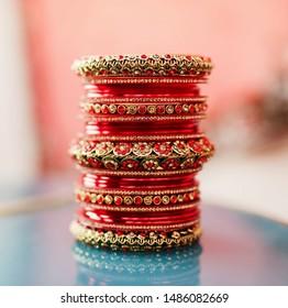 Pakistani Indian Indian bridal red bangles wedding jewelry