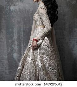 Pakistani Indian Bridal showing wedding Lehenga and jewelry fashion outfits