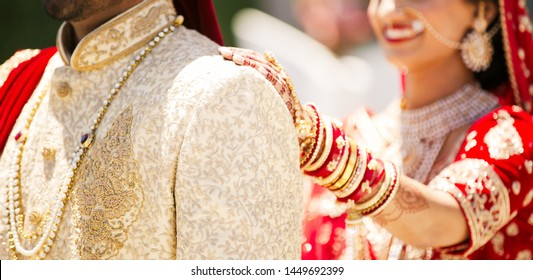 Pakistani Indian bride surprising the groom at their wedding day Hyderabad Indian, 05 July 2019